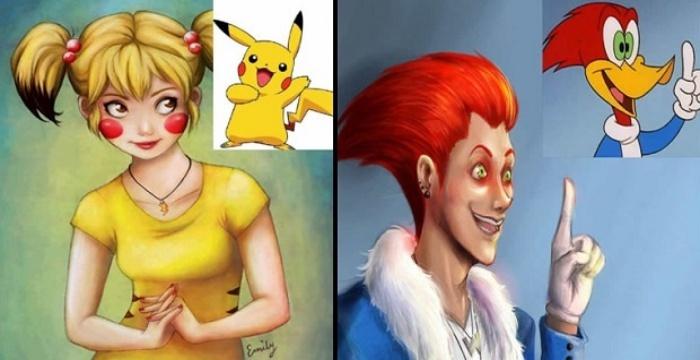 Artistas Recriaram 21 Personagens Famosos De Desenhos Em Versao